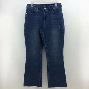 J. Jill Denim Kick Flare Jeans Stretch Ankle